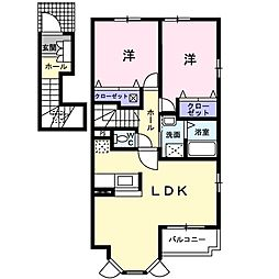 グレンツェン弐番館[2階]の間取り