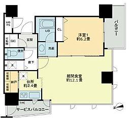 ベルファース大阪新町[4階]の間取り