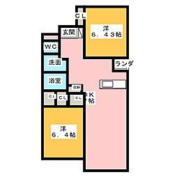 レジデンス・ヤギIII[2階]の間取り