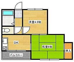 メゾンドール玉出[4階]の間取り