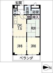 ロイヤルグレース[3階]の間取り