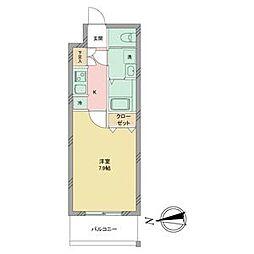 名古屋市営名城線 志賀本通駅 徒歩2分の賃貸マンション 9階1Kの間取り