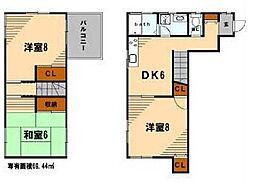 [一戸建] 神奈川県横浜市鶴見区豊岡町 の賃貸【/】の間取り