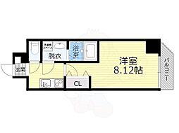 JR大阪環状線 桜ノ宮駅 徒歩6分の賃貸マンション 6階1Kの間取り