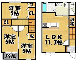 MOON上吉田[1階]の間取り