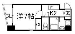 京都府京都市下京区上五条町の賃貸マンションの間取り