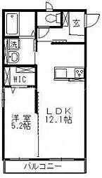 JR山陽本線 岡山駅 バス25分 曹源寺下車 徒歩3分の賃貸アパート 2階1LDKの間取り