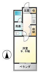 愛知県名古屋市西区南堀越1丁目の賃貸マンションの間取り
