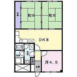 田中ハイツ[0502号室]の間取り