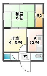 [一戸建] 三重県伊勢市一之木5丁目 の賃貸【/】の間取り