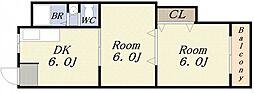 オカクママンション[2階]の間取り