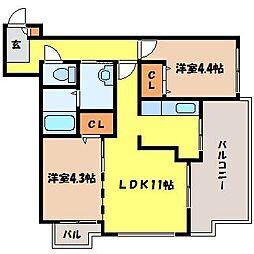 北海道札幌市北区北十八条西5丁目の賃貸マンションの間取り