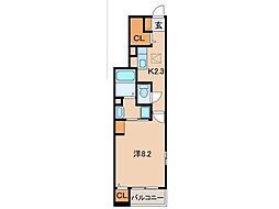 南海線 和歌山市駅 徒歩20分の賃貸アパート 1階1Kの間取り