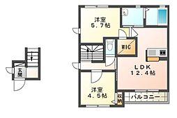 フォルシェA棟[2階]の間取り