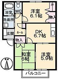 ミーニュ・カーザ A棟[1階]の間取り