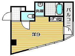 大阪府吹田市高浜町の賃貸マンションの間取り