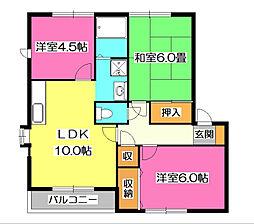 セントビラ92 A棟[1階]の間取り