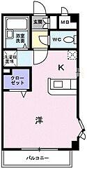 東京都東村山市本町4丁目の賃貸マンションの間取り