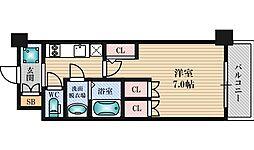 アルティザ淡路駅東 13階1Kの間取り