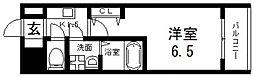 グランエクラ田島 8階1Kの間取り