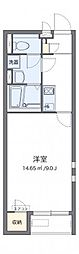クレイノ百合桜[201号室]の間取り