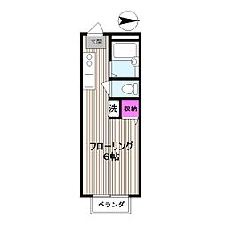 東京都国分寺市南町2丁目の賃貸アパートの間取り