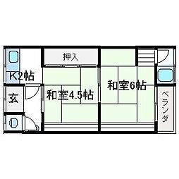 西高井住宅[202号室]の間取り