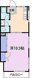 ホワイトコーポ紫原[2階]の間取り