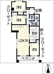 アルカディアVI[2階]の間取り