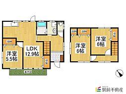 田島貸家 1階3LDKの間取り