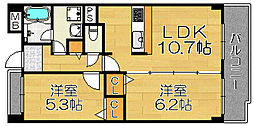メゾン穂[4階]の間取り