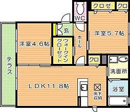 ドミール永犬丸I[1階]の間取り