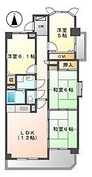 ラルゴ白壁[8階]の間取り