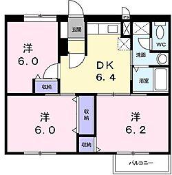 Annex III[0202号室]の間取り