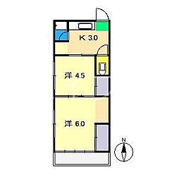 Tハウス[2階]の間取り