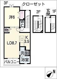サン・マロン[3階]の間取り