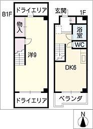 赤坂第1ビル[1階]の間取り