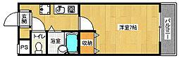 京都府城陽市枇杷庄大三戸の賃貸マンションの間取り