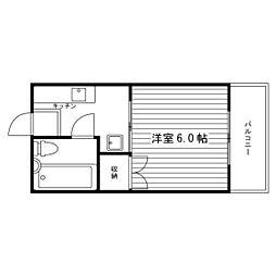 サレッタブランカ荒江[2階]の間取り