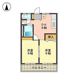 コーポモリ[2階]の間取り