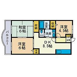 シャトレーSHIMIZU[4階]の間取り