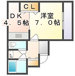 香川県高松市塩上町3丁目の賃貸マンションの間取り