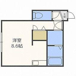 ハイツさくら[3階]の間取り