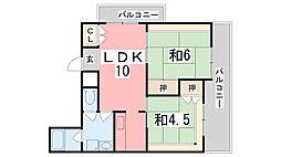 センシブルハウス[301号室]の間取り