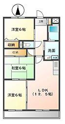 愛知県名古屋市緑区相川3丁目の賃貸マンションの間取り