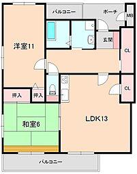マルトヨマンション[4階]の間取り
