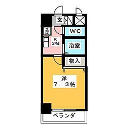 サザン名駅エクシード[7階]の間取り