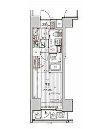 つくばエクスプレス 浅草駅 徒歩8分の賃貸マンション 2階1Kの間取り