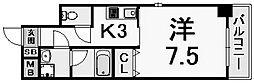 W.O.B西宮レジデンス[6階]の間取り