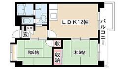 愛知県名古屋市南区大磯通4の賃貸マンションの間取り